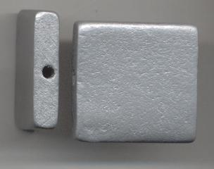 Rectangulo 30*8mm plata vieja